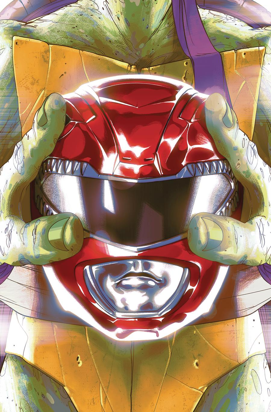 Mighty Morphin Power Rangers Teenage Mutant Ninja Turtles #1 Cover E Variant Goni Montes Cover