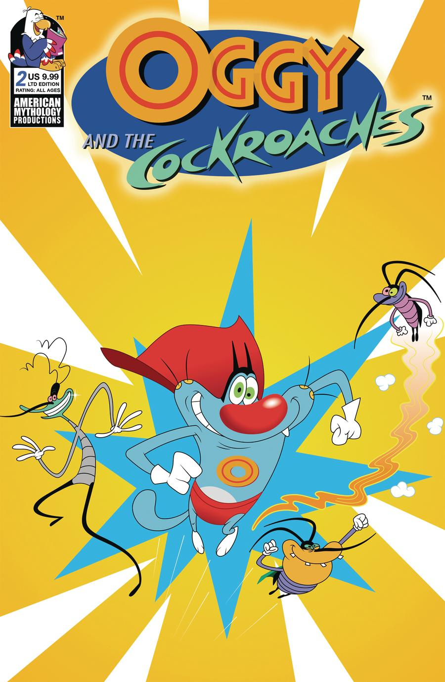 Oggy And The Cockroaches #2 Cover C Limited Edition Animation Cel Variant Cover