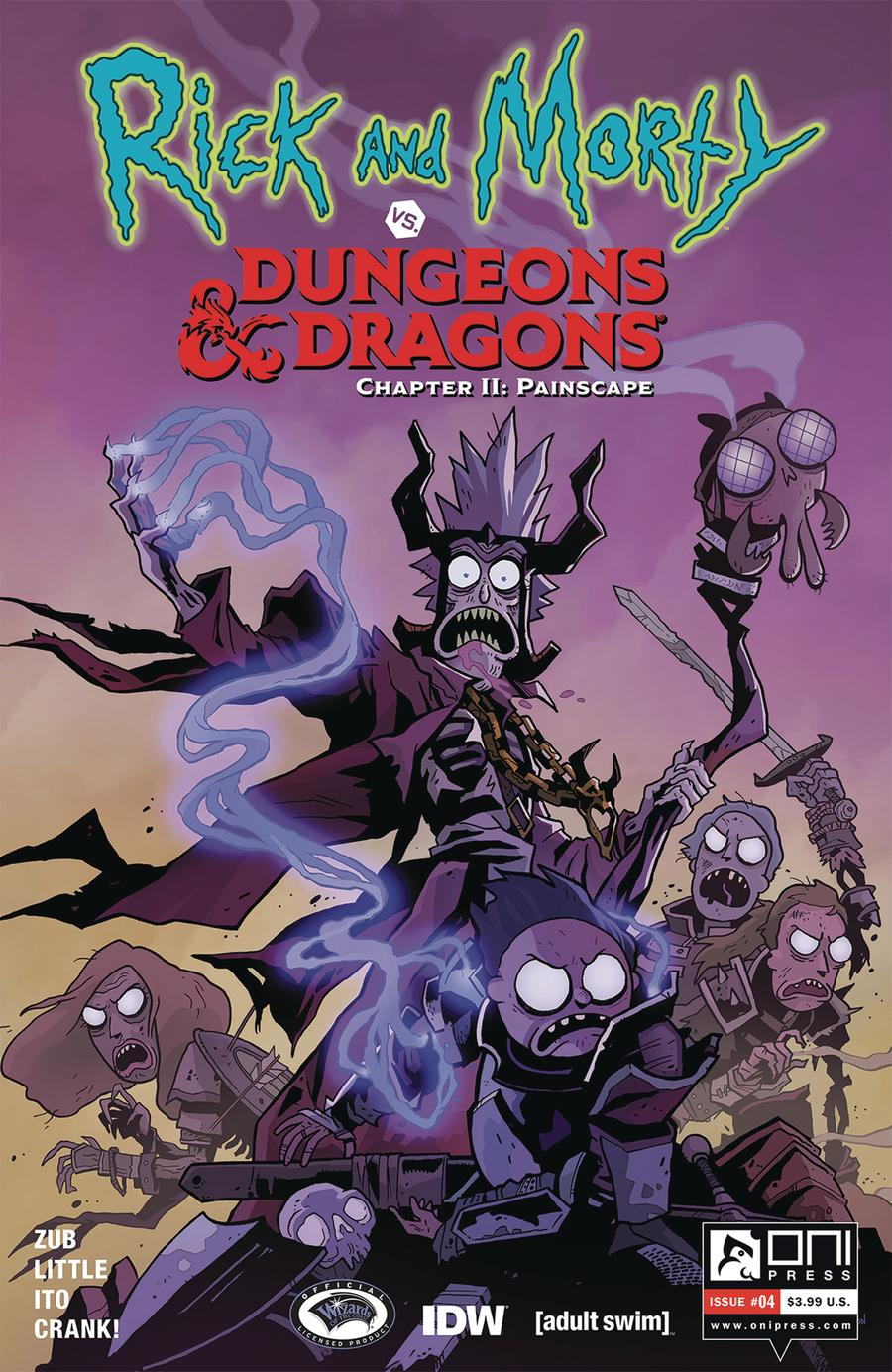 Rick And Morty vs Dungeons & Dragons Chapter II Painscape #4 Cover A Regular Troy Little Cover