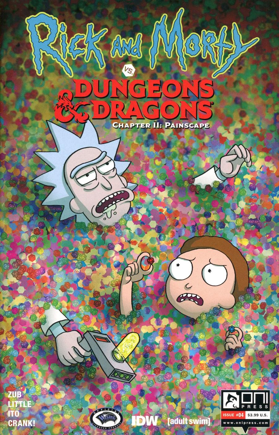 Rick And Morty vs Dungeons & Dragons Chapter II Painscape #4 Cover B Variant Kendra Wells Cover