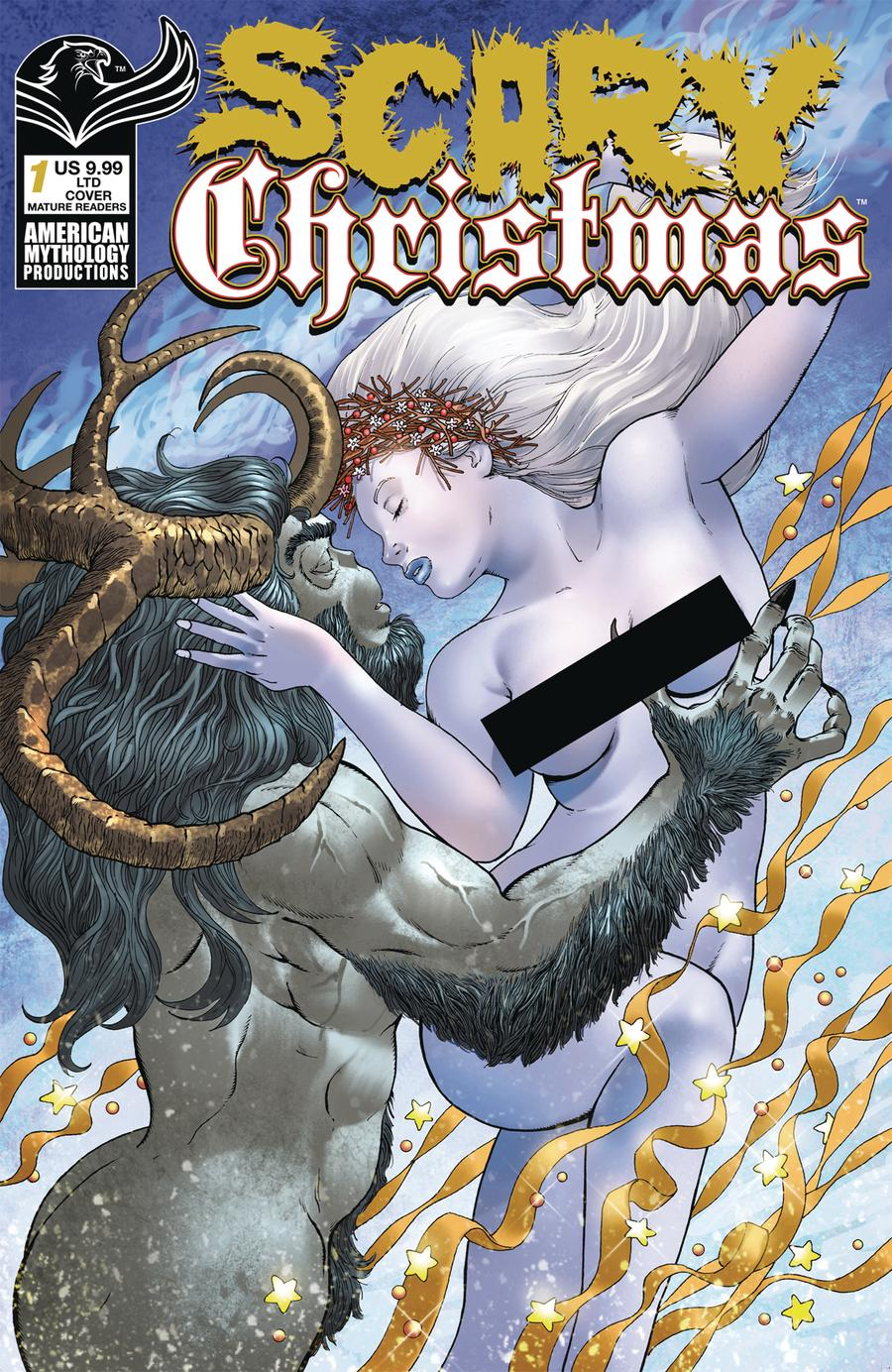 Scary Christmas #1 Cover B Limited Edition Mike Wolfer Nude Variant Cover