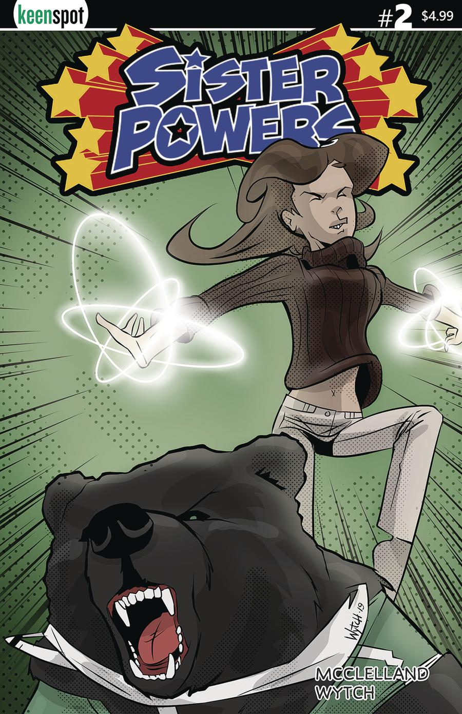 Sister Powers #2 Cover C Variant Mario Wytch Powered Up Cover