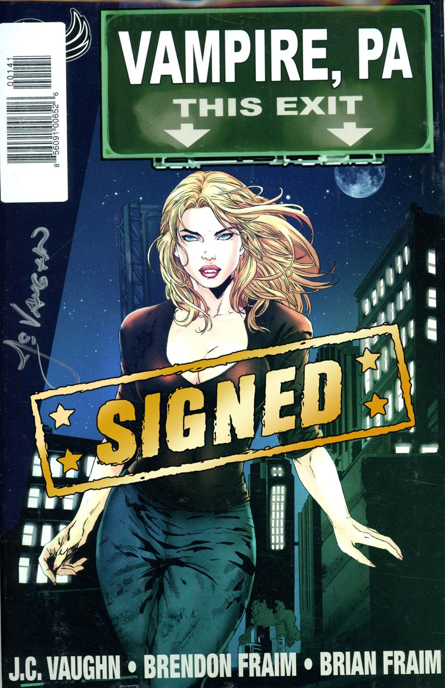 Vampire PA Bite Out Of Crime #1 Cover D Signed By JC Vaughn