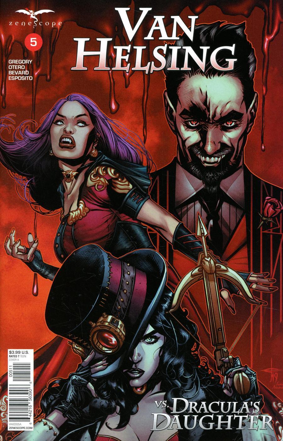Grimm Fairy Tales Presents Van Helsing vs Draculas Daughter #5 Cover A Drew Edward Johnson