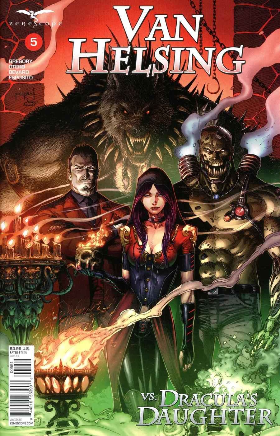 Grimm Fairy Tales Presents Van Helsing vs Draculas Daughter #5 Cover E Jason Metcalf