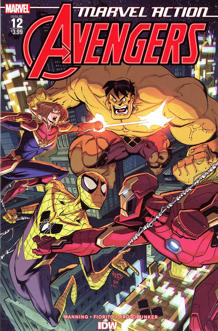 Marvel Action Avengers #12 Cover A Regular Marcio Fiorito Cover