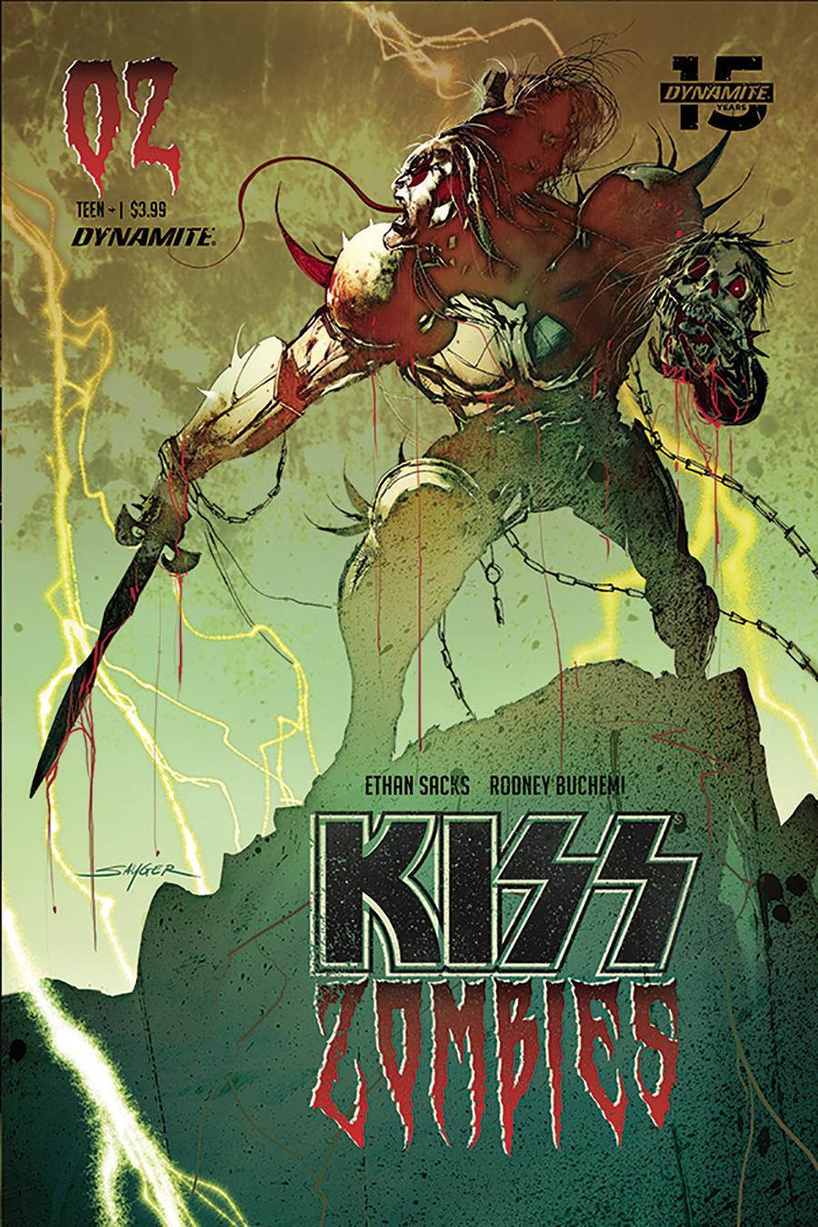 KISS Zombies #2 Cover B Variant Stuart Sayger Cover