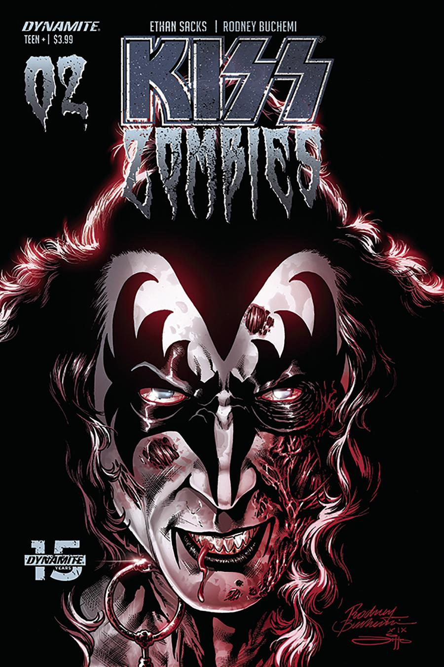 KISS Zombies #2 Cover C Variant Rodney Buchemi Cover