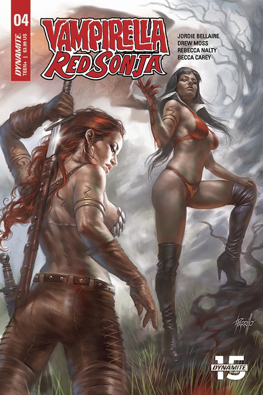 Vampirella Red Sonja #4 Cover C Variant Lucio Parrillo Cover