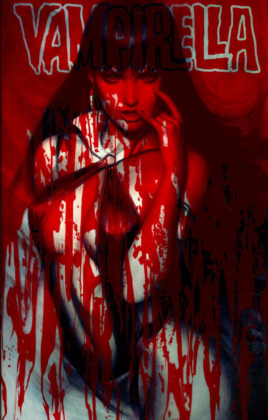 Vampirella Vol 8 #6 Cover A Regular Stanley Artgerm Lau Blood Splattered Acetate Cover
