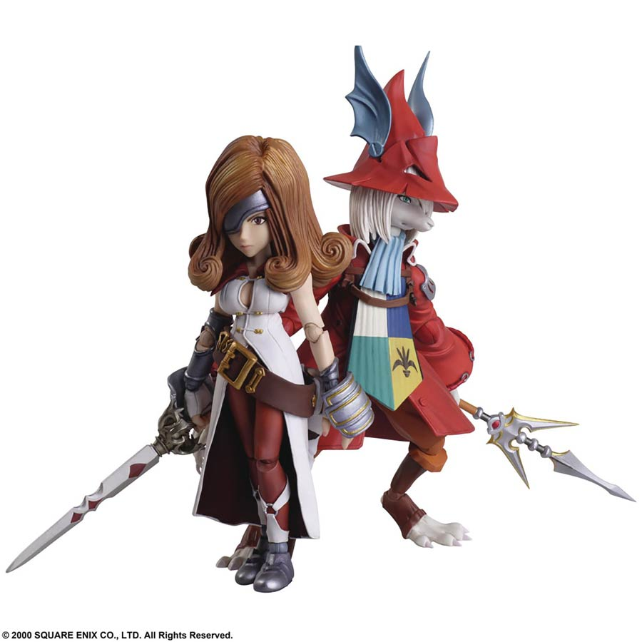Final Fantasy IX Bring Arts Action Figure Set - Freya Crescent & Beatrix