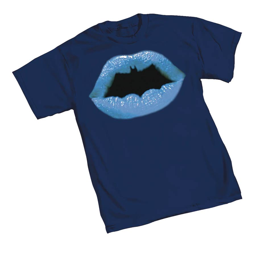 Batman Lips Symbol T-Shirt Large
