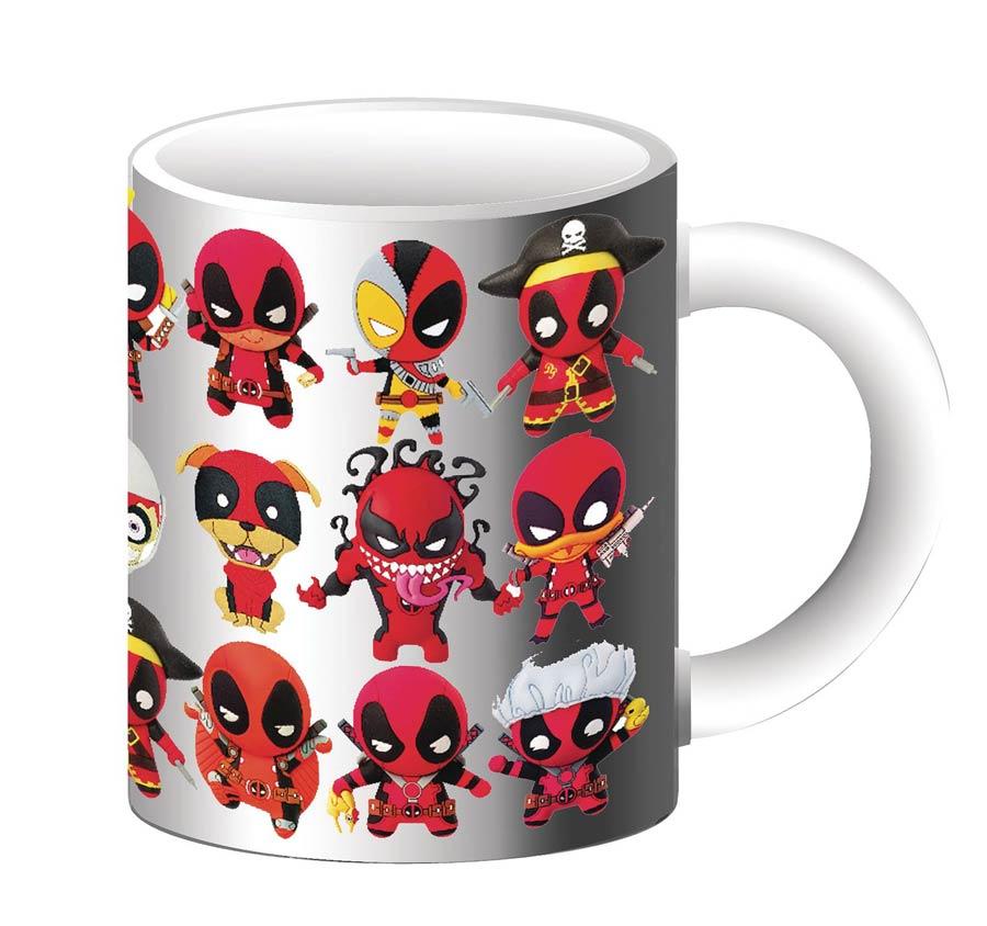 Marvel Heroes Deadpool Chibi-Style Collage Mug