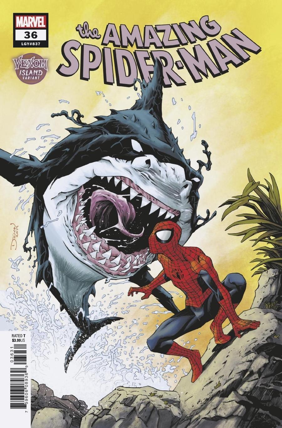 Amazing Spider-Man Vol 5 #36 Cover C Variant Declan Shalvey Venom Island Cover (2099 Tie-In)