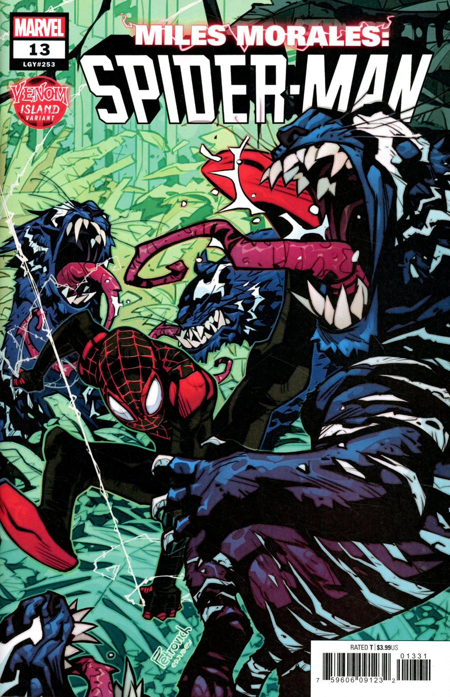 Miles Morales Spider-Man #13 Cover C Variant Eduard Petrovich Venom Island Cover