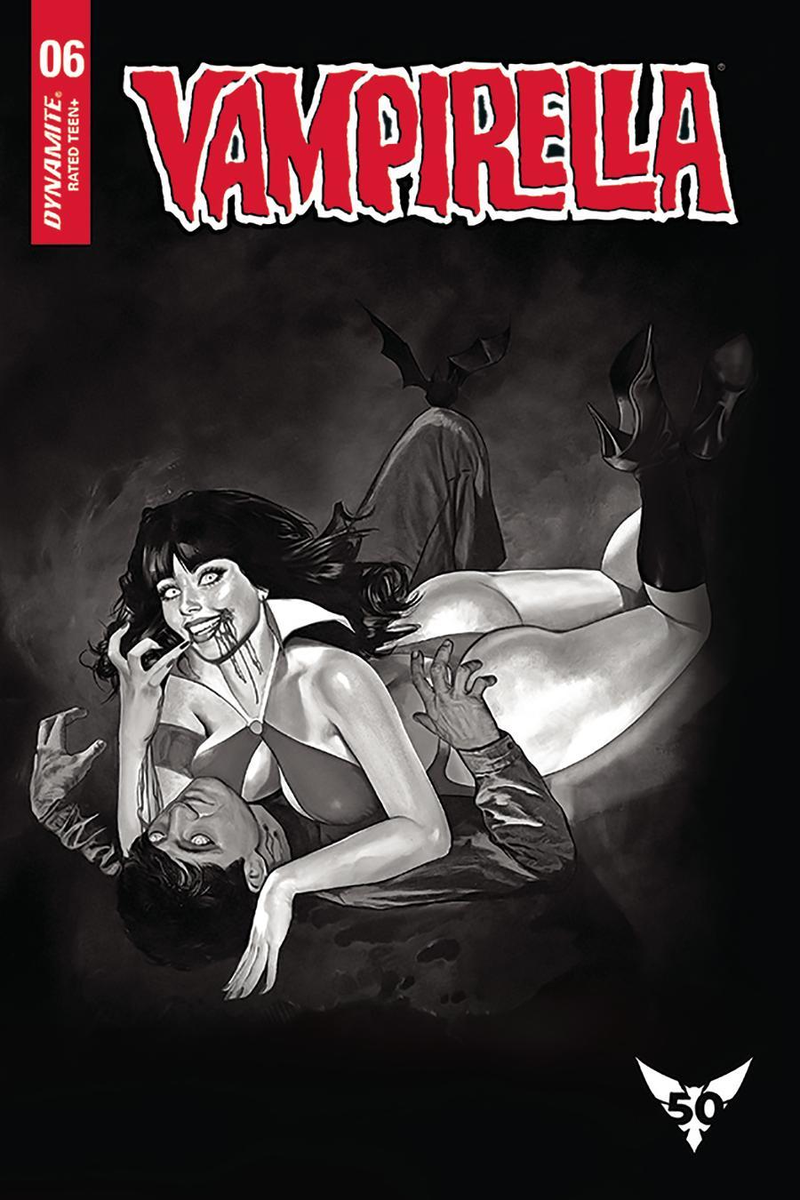 Vampirella Vol 8 #6 Cover L Incentive Fay Dalton Black & White Cover