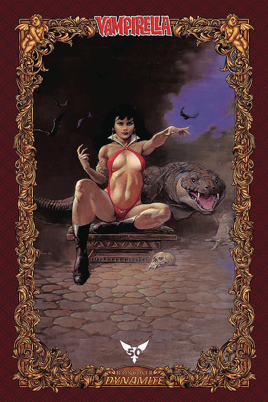 Vampirella Vol 8 #6 Cover U Incentive Frank Frazetta Icon Edition Variant Cover