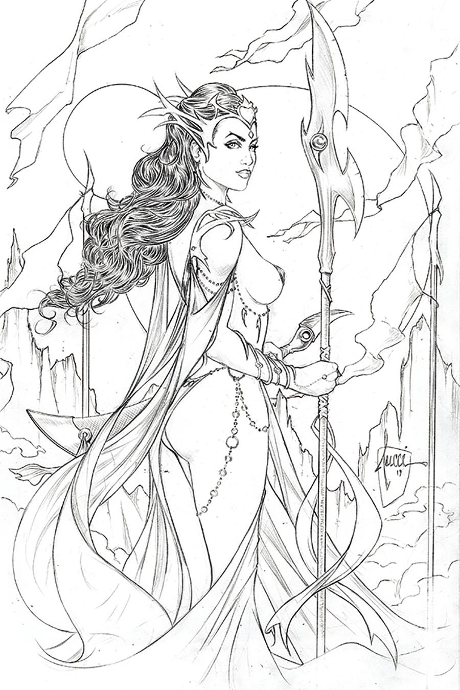 Dejah Thoris Vol 3 #1 Cover I Incentive Billy Tucci Pencil Sketch Cover