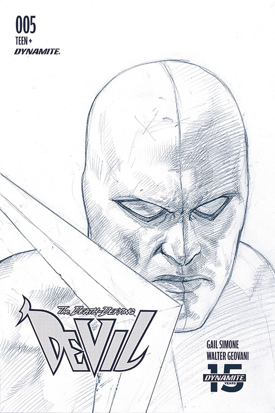 Death-Defying Devil Vol 2 #5 Cover D Incentive Riccardo Federici Black & White Cover