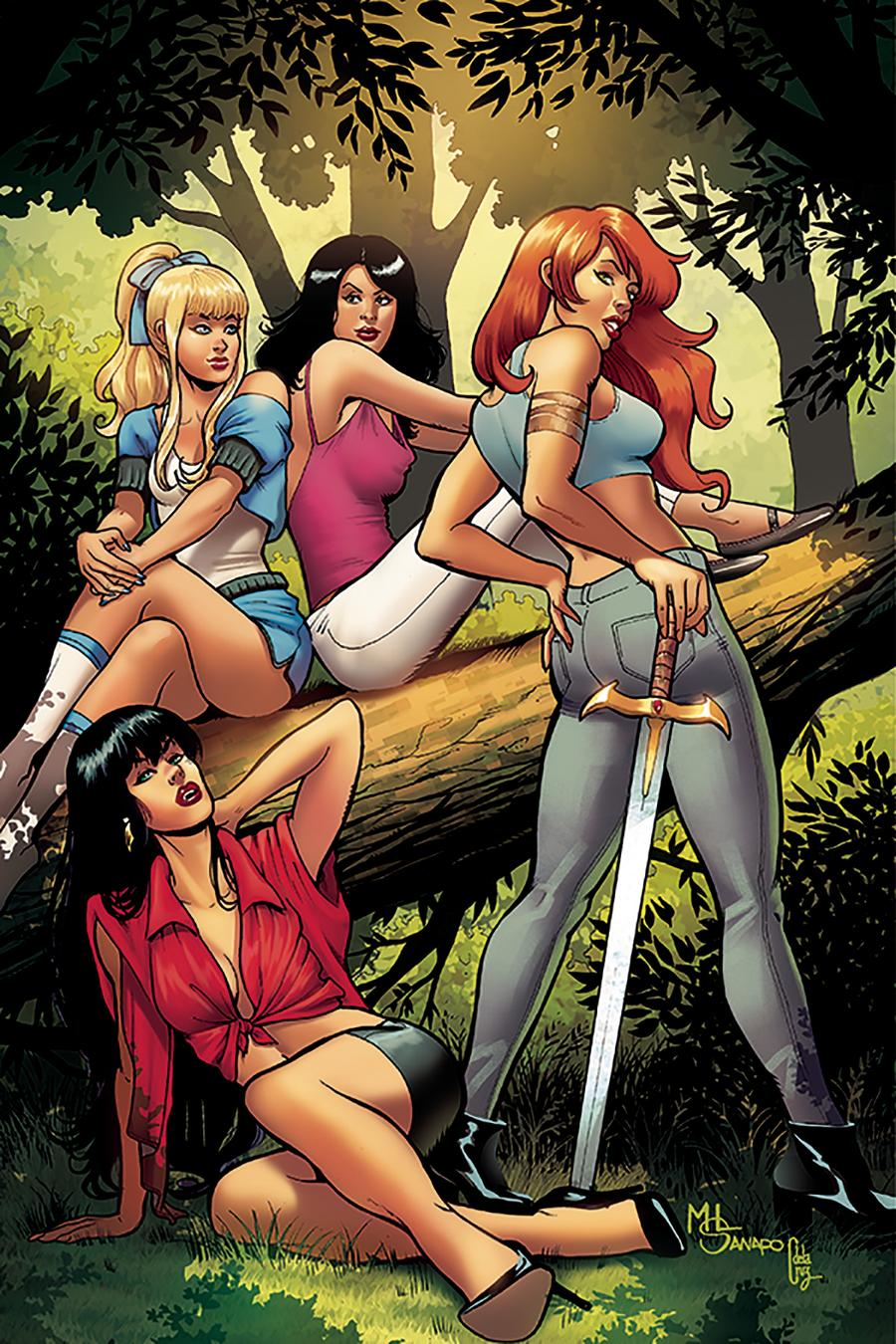 Red Sonja And Vampirella Meet Betty And Veronica #7 Cover M Incentive Maria Sanapo Virgin Cover