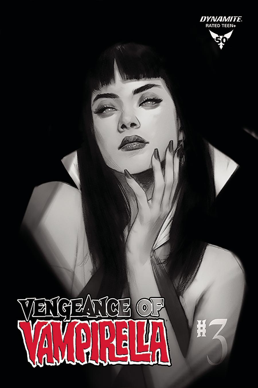 Vengeance Of Vampirella Vol 2 #3 Cover M Incentive Ben Oliver Black & White Cover