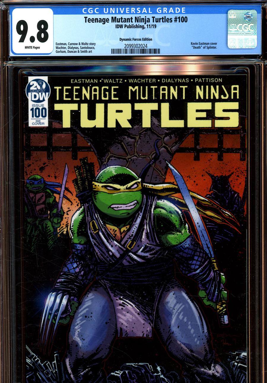 Teenage Mutant Ninja Turtles Vol 5 #100 Cover G DF Exclusive Kevin Eastman Variant Cover CGC Graded