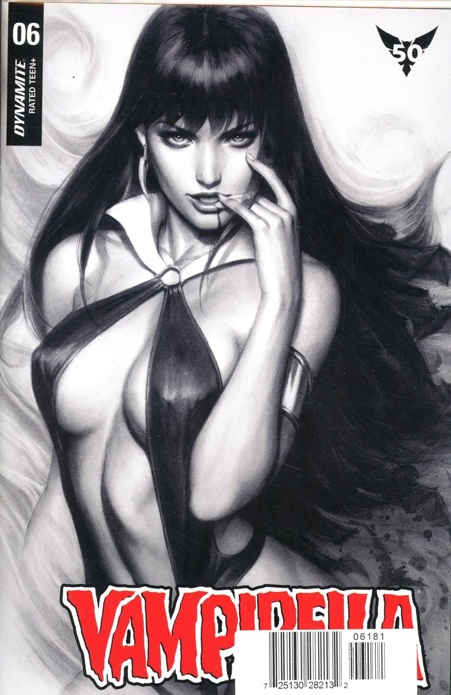 Vampirella Vol 8 #6 Cover Y Ultra-Limited Edition Stanley Artgerm Lau Charcoal Cover