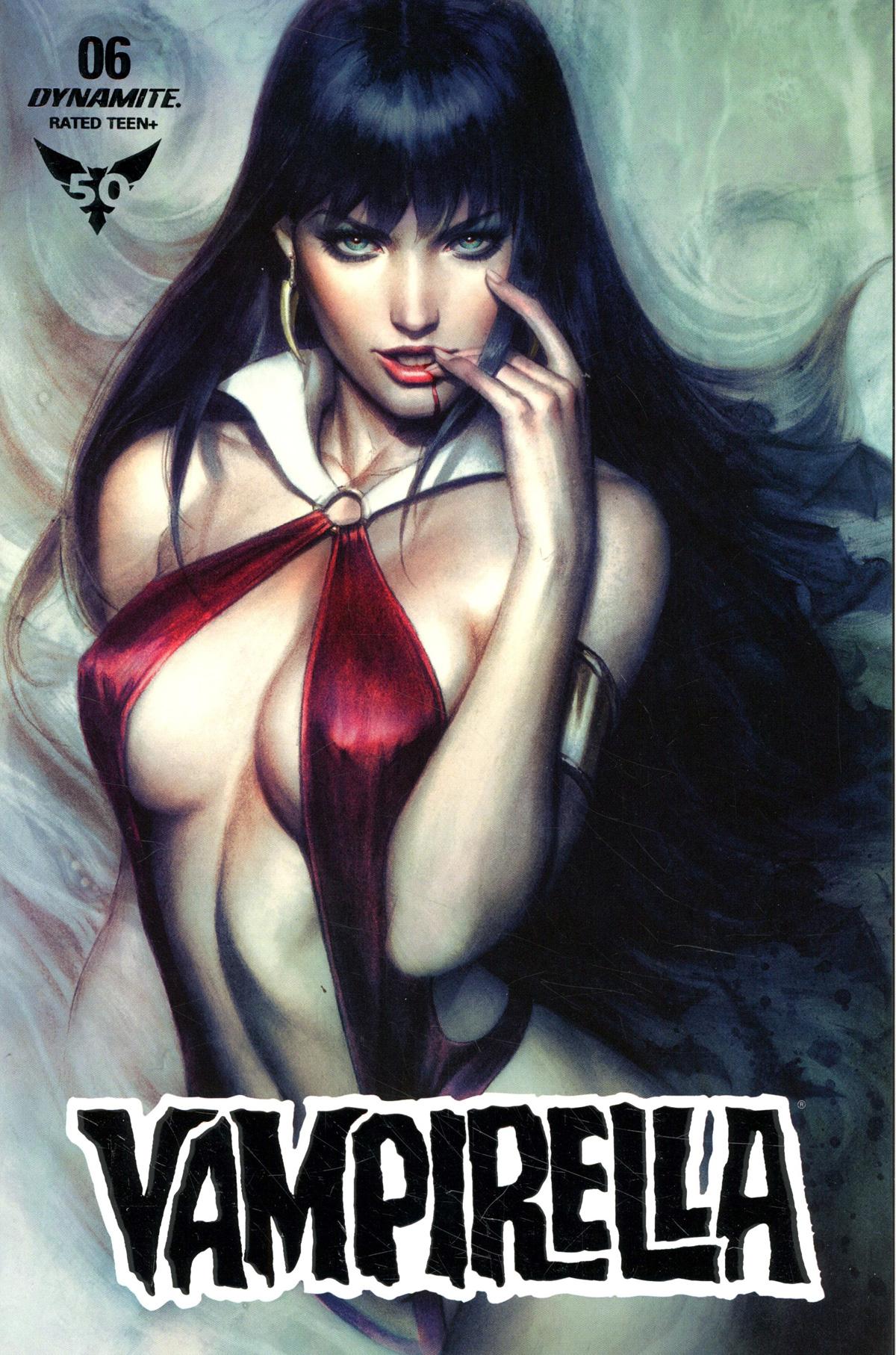 Vampirella Vol 8 #6 Cover Z-B Ultra-Limited Edition Stanley Artgerm Lau Platinum Foil Cover