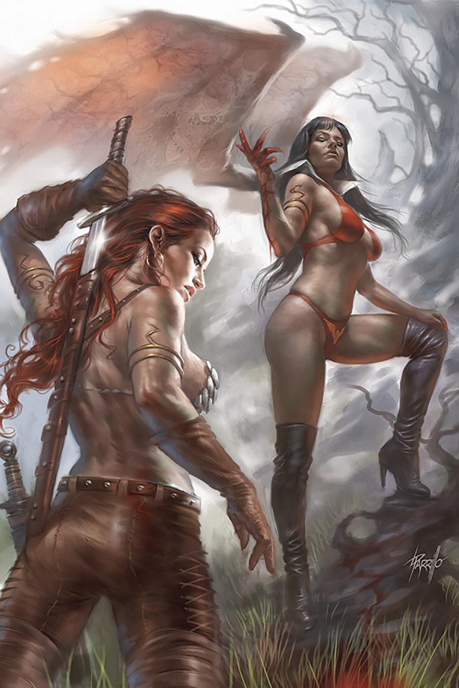 Vampirella Red Sonja #4 Cover Q Limited Edition Lucio Parrillo Virgin Cover
