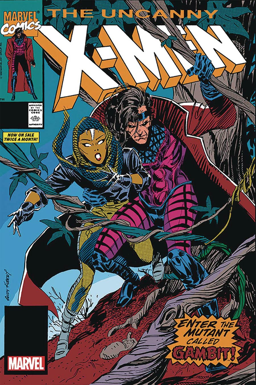 Uncanny X-Men #266 Cover F Facsimile Edition DF Gold Signature Series Signed By Andy Kubert
