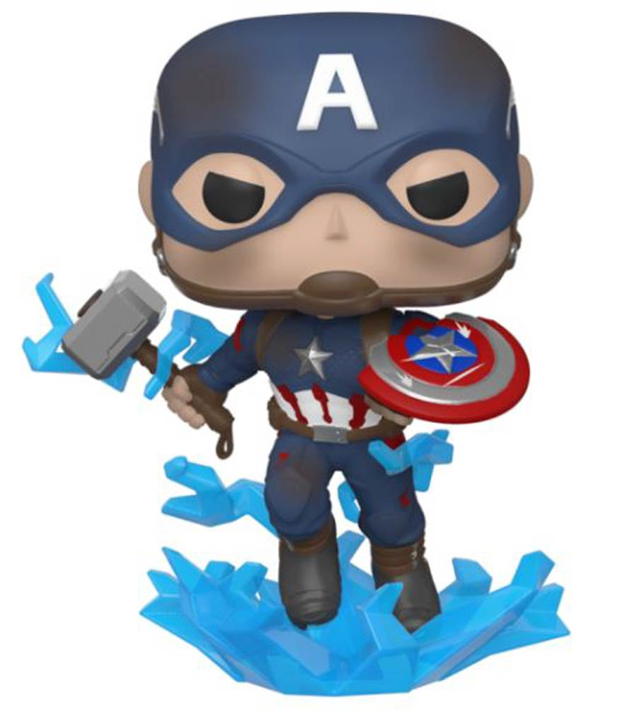 Captain America With Mjolnir Pop Vinyl