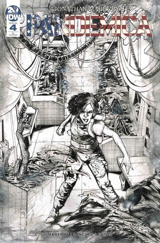 Pandemica #4 Cover B Incentive Alex Sanchez Pixel Art Variant Cover