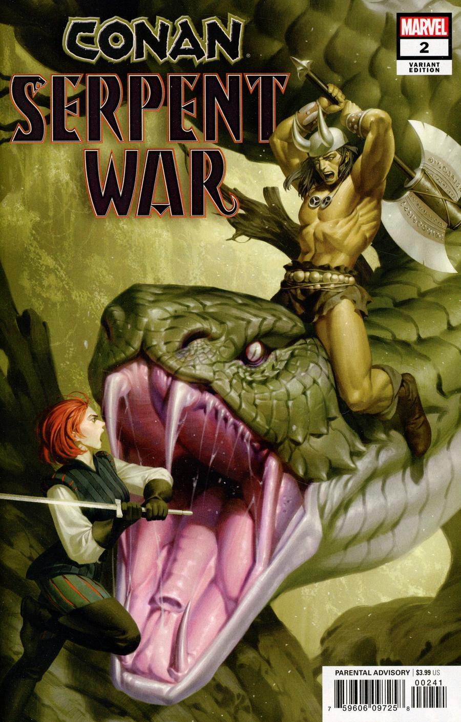 Conan Serpent War #2 Cover D Incentive Junggeun Yoon Variant Cover