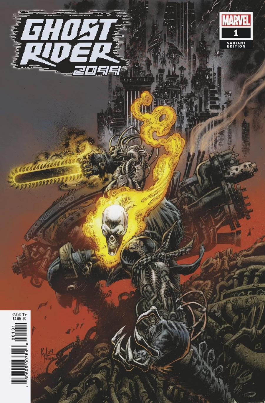 Ghost Rider 2099 One Shot Cover C Incentive Kyle Hotz Variant Cover