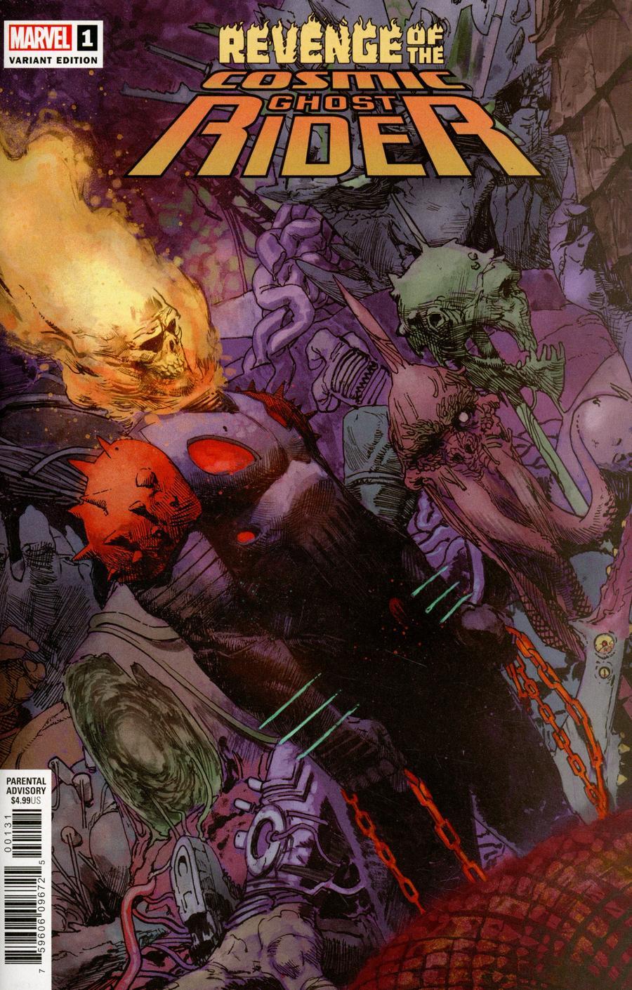 Revenge Of The Cosmic Ghost Rider #1 Cover E Incentive Gerardo Zaffino Variant Cover