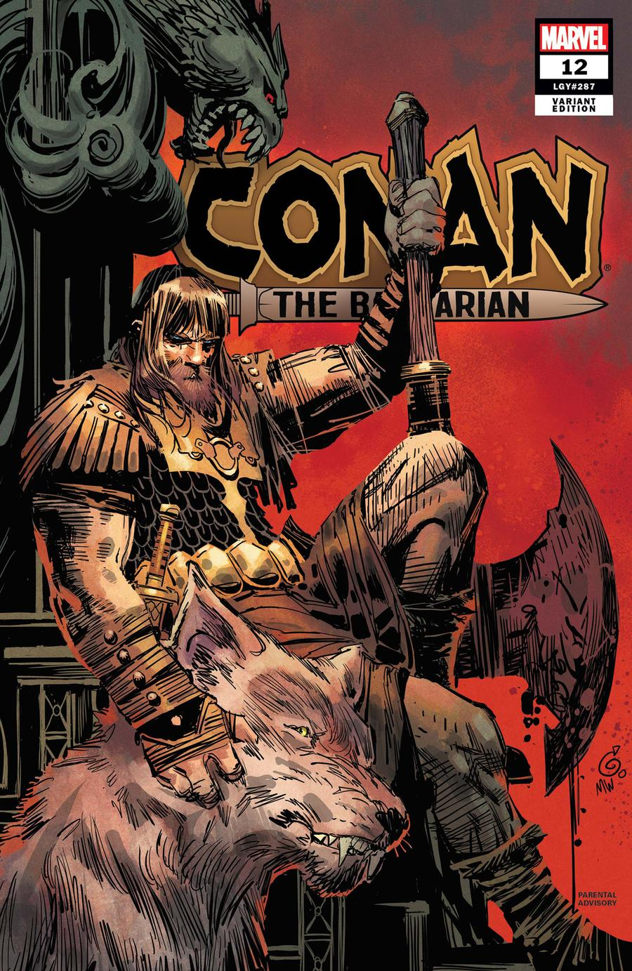 Conan The Barbarian Vol 4 #12 Cover B Incentive Ron Garney Variant Cover