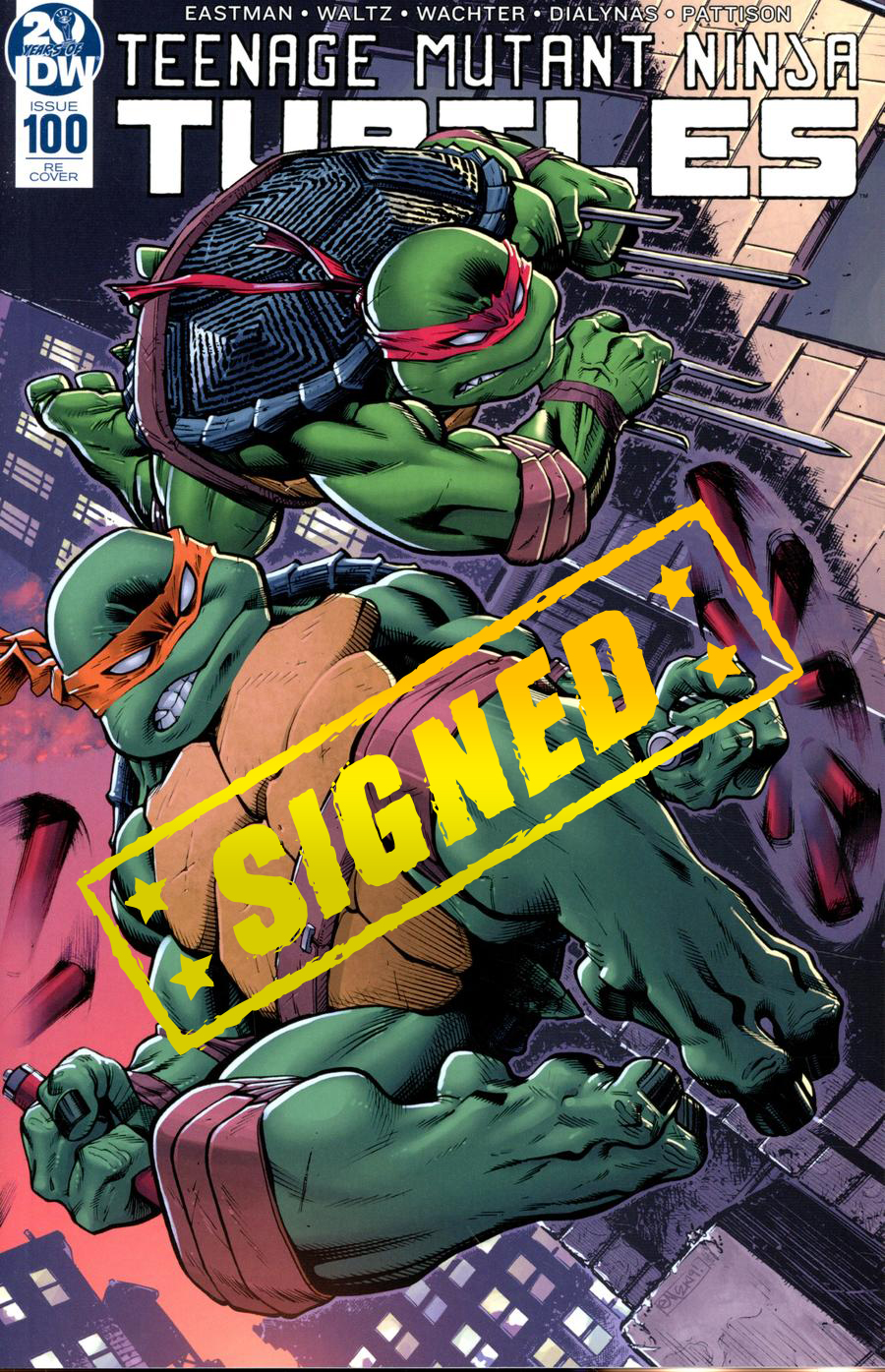 Teenage Mutant Ninja Turtles Vol 5 #100  Midtown Exclusive Cover D Ed McGuinness Wraparound Variant Cover Signed By Ed McGuinness