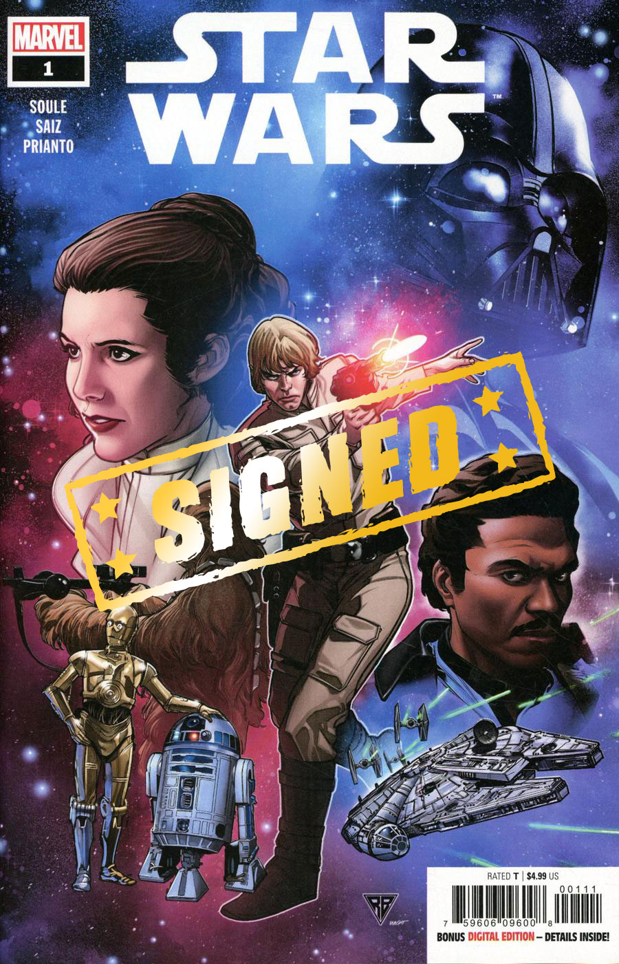 Star Wars Vol 5 #1 Cover N Regular RB Silva Cover Signed By Charles Soule