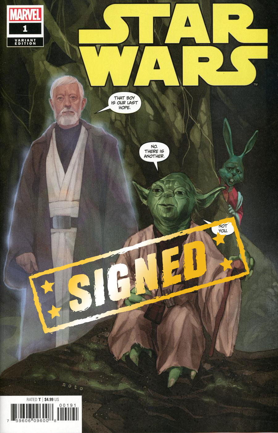 Star Wars Vol 5 #1 Cover P Variant Phil Noto Party Cover Signed By Charles Soule