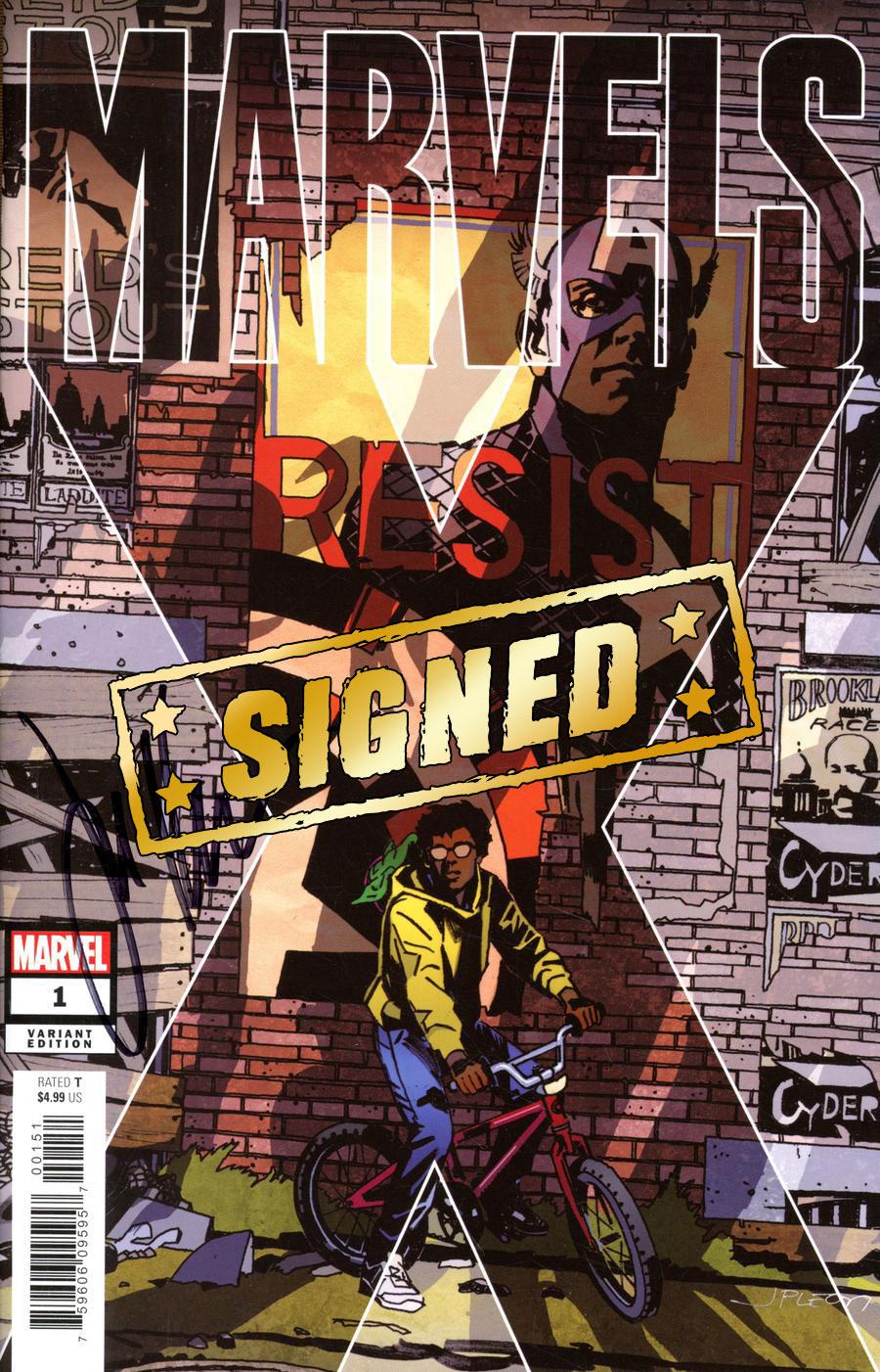 Marvels X #1 Cover I Variant John Paul Leon Party Cover Signed By Jim Krueger