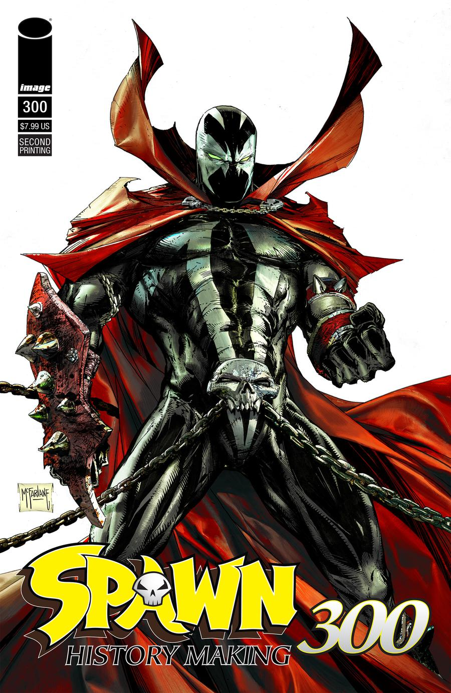Spawn #300 Cover R 2nd Ptg Variant Cover