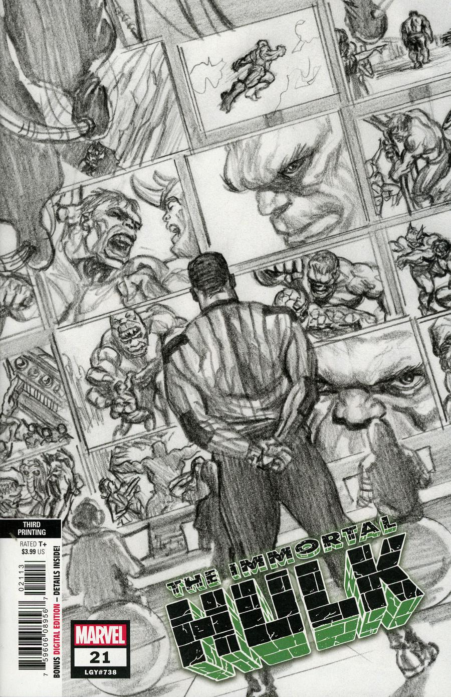 Immortal Hulk #21 Cover C 3rd Ptg Variant Cover