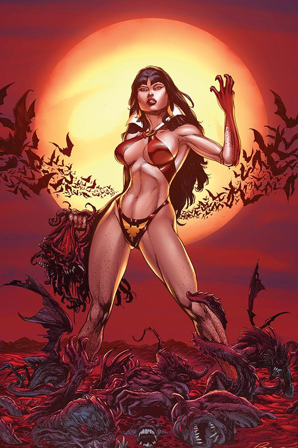 Vengeance Of Vampirella Vol 2 #1 Cover H Incentive Buzz Blood Moon Virgin Cover