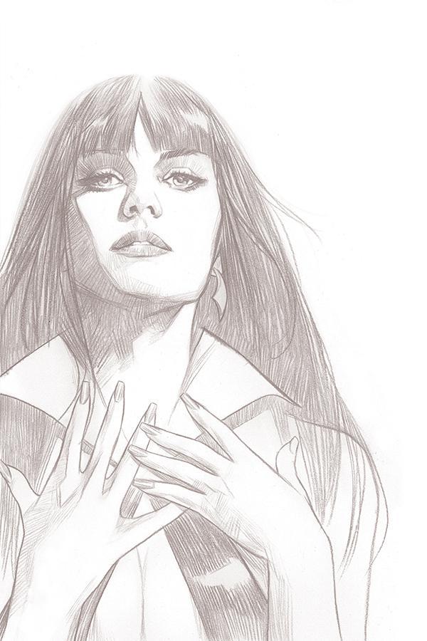 Vengeance Of Vampirella Vol 2 #1 Cover I Incentive Ben Oliver Black & White Virgin Cover