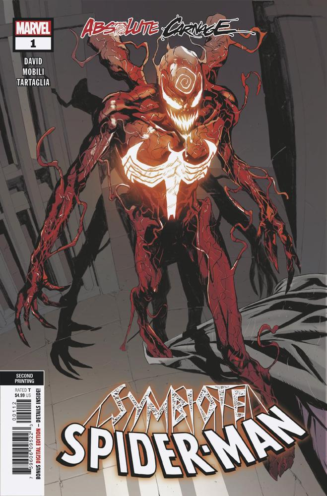 Absolute Carnage Symbiote Spider-Man #1 Cover G 2nd Ptg Variant Francesco Mobili Cover