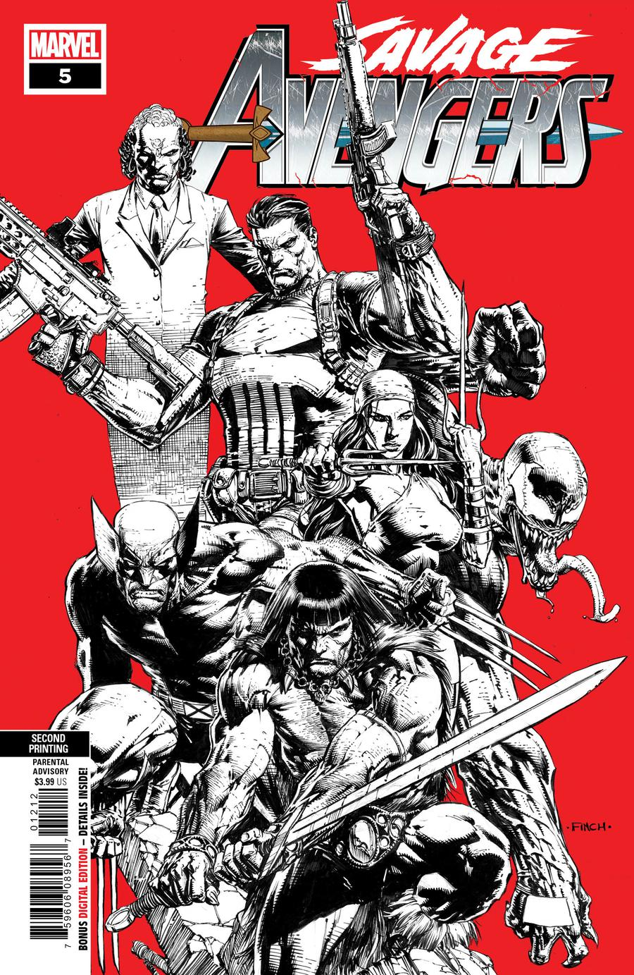Savage Avengers #5 Cover C 2nd Ptg Variant David Finch Cover