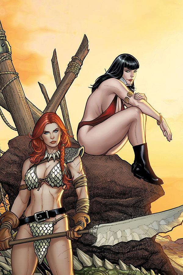 Vampirella Red Sonja #2 Cover K Incentive Frank Cho Sneak Peek Virgin Variant Cover