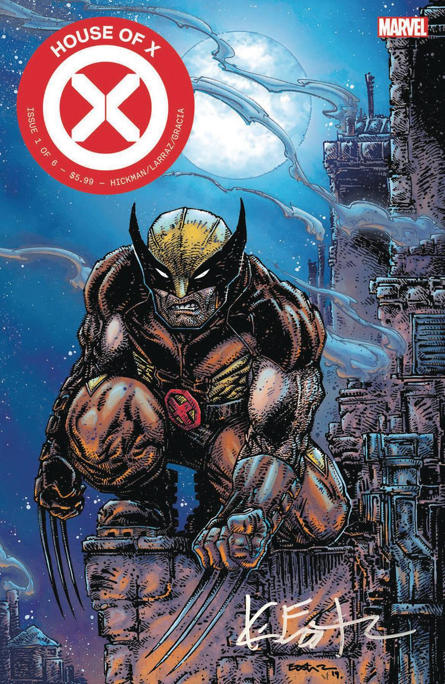 House Of X #1 Cover V Clover Press Exclusive Kevin Eastman Variant Cover Signed By Kevin Eastman
