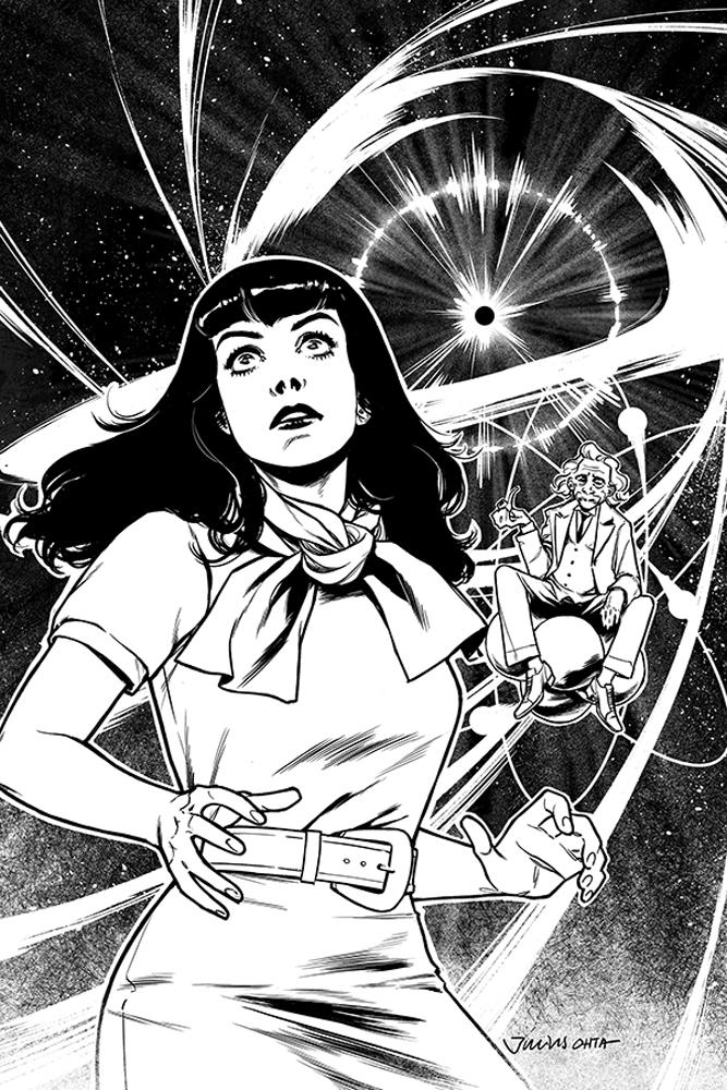 Bettie Page Unbound #5 Cover F Variant Julius Ohta Black & White Virgin Cover