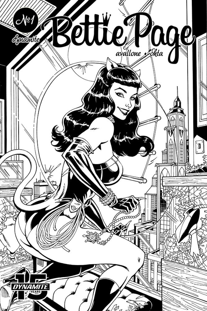 Bettie Page Unbound #5 Cover H Incentive John Royle Black & White Dressed Cover
